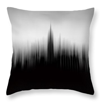 New York Skyline Abstract Throw Pillow