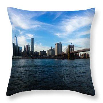 New York Skyline - Color Throw Pillow
