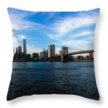 New York Skyline - Color Throw Pillow by Nicklas Gustafsson