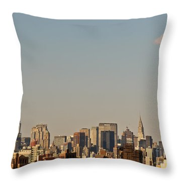 Throw Pillow featuring the photograph New York Skyline by Kerri Farley