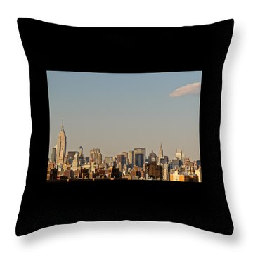 Throw Pillow featuring the photograph New York City Skyline by Kerri Farley