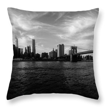 New York Skyline Throw Pillow by Nicklas Gustafsson