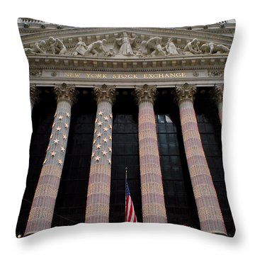 New York Stock Exchange Throw Pillow by Yue Wang