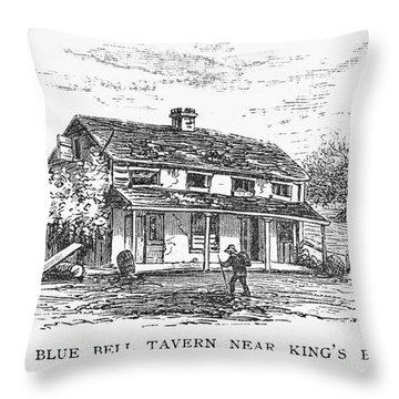 New York: Tavern, C1725 Throw Pillow by Granger