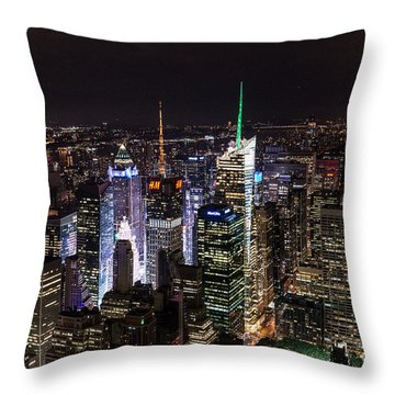 New York Times Square Throw Pillow