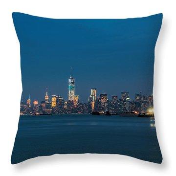 New York Twilight Throw Pillow