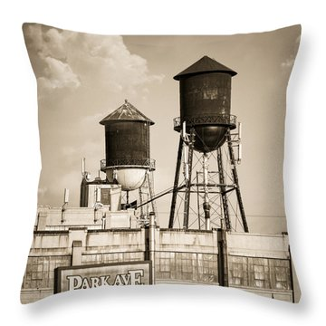 Throw Pillow featuring the photograph New York Water Tower 8 - Williamsburg Brooklyn by Gary Heller