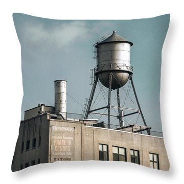 New York Water Towers 10 Throw Pillow