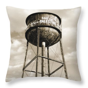 Throw Pillow featuring the photograph New York Water Towers 11 - Greenpoint Brooklyn by Gary Heller