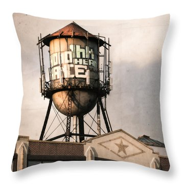 New York. Water Towers 6 Throw Pillow