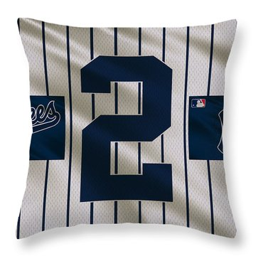 New York Yankees Derek Jeter Throw Pillow