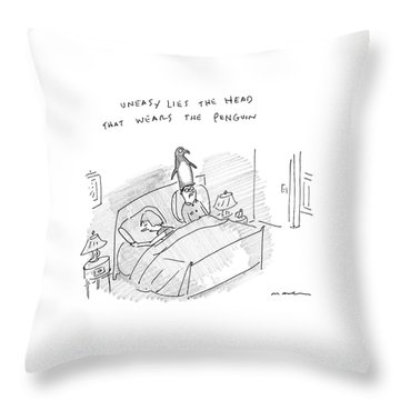 New Yorker April 10th, 2017 Throw Pillow