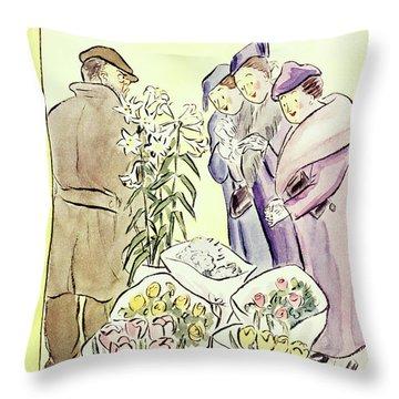 New Yorker April 11 1936 Throw Pillow