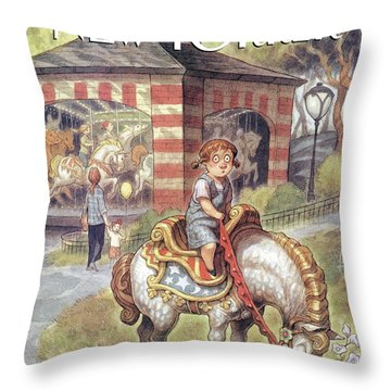 New Yorker April 11th, 1994 Throw Pillow