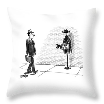 New Yorker April 13th, 1992 Throw Pillow