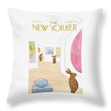 New Yorker April 1st, 1972 Throw Pillow