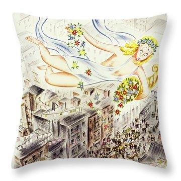 New Yorker April 2 1937 Throw Pillow