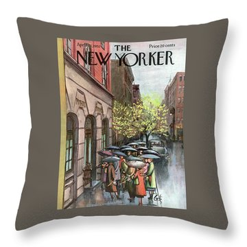 New Yorker April 21st, 1951 Throw Pillow