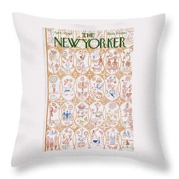New Yorker April 21st, 1962 Throw Pillow