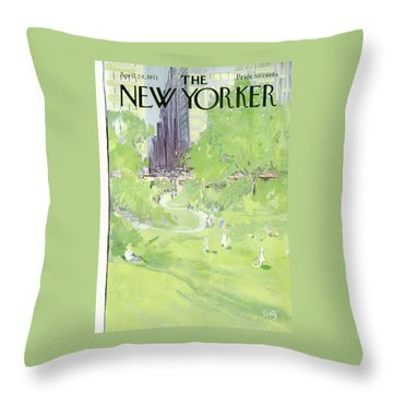 New Yorker April 24th, 1971 Throw Pillow