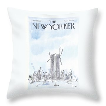 New Yorker April 29th, 1974 Throw Pillow