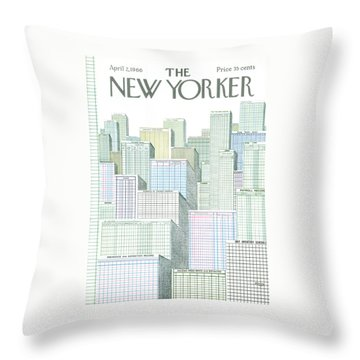 New Yorker April 2nd, 1966 Throw Pillow