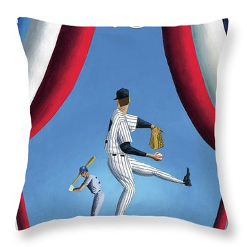 New Yorker April 2nd, 2001 Throw Pillow