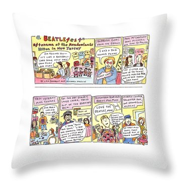New Yorker April 4th, 1994 Throw Pillow