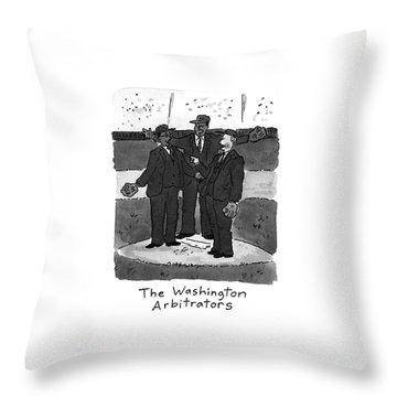 1st Base Throw Pillows