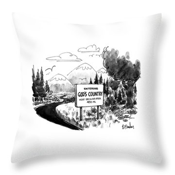 New Yorker April 6th, 1992 Throw Pillow