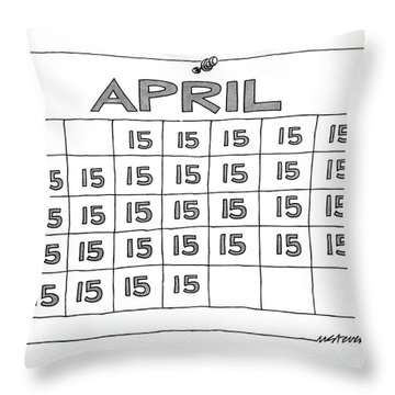 New Yorker April 7th, 1986 Throw Pillow