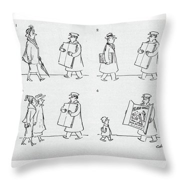 New Yorker April 9th, 1949 Throw Pillow