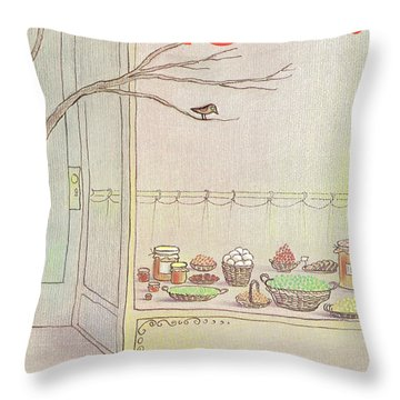 New Yorker April 9th, 1984 Throw Pillow