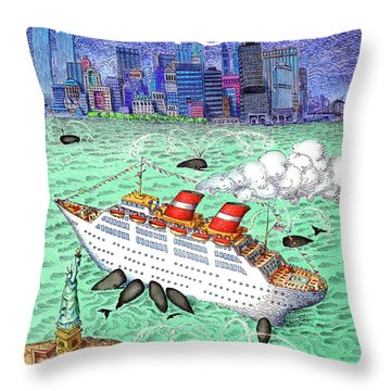 New Yorker April 9th, 1990 Throw Pillow