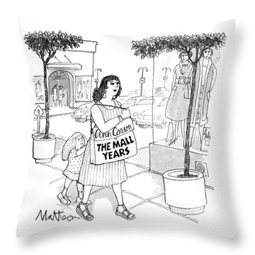New Yorker August 15th, 1988 Throw Pillow