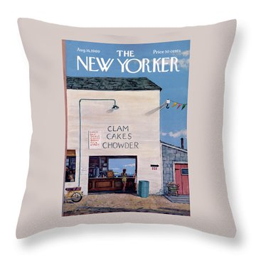 New Yorker August 16th, 1969 Throw Pillow