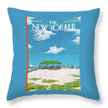 New Yorker August 20th, 1973 Throw Pillow