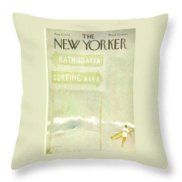New Yorker August 23rd, 1976 Throw Pillow