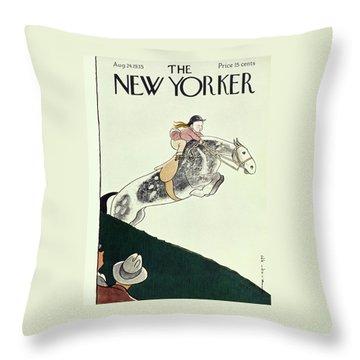 New Yorker August 24 1935 Throw Pillow