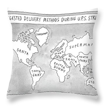 New Yorker August 25th, 1997 Throw Pillow