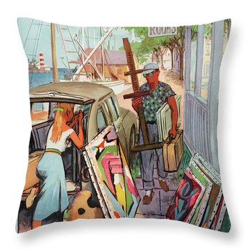 New Yorker August 30th, 1958 Throw Pillow