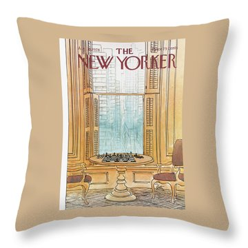 New Yorker August 30th, 1976 Throw Pillow