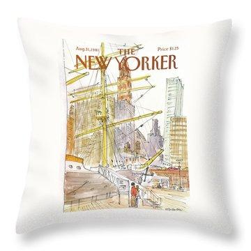 New Yorker August 31st, 1981 Throw Pillow