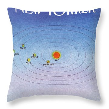 New Yorker August 31st, 1987 Throw Pillow