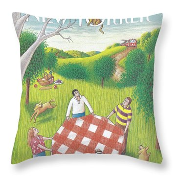New Yorker August 31st, 1992 Throw Pillow