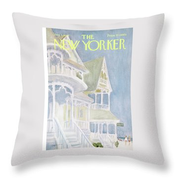 New Yorker August 5th, 1967 Throw Pillow