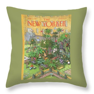 New Yorker August 5th, 1991 Throw Pillow