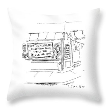 New Yorker August 5th, 1996 Throw Pillow