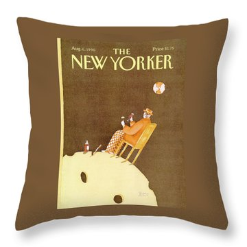 New Yorker August 6th, 1990 Throw Pillow