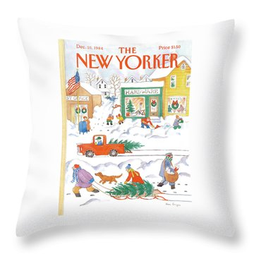 New Yorker December 10th, 1984 Throw Pillow